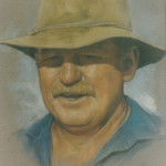 Pastel portrait of Grant Scott